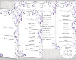 word template for wedding program rustic wedding program template burlap lace diy