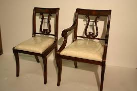 Antique Dining Chairs Lyre Back Dining Room Chairs Solid Mahogany Schmieg U0026 Kotzian Design