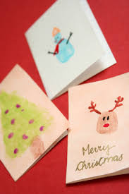 create a christmas card fingerpaint christmas cards activity education
