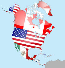 Map Of Us And Canada North America Map Flags Maps Of Usa