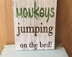 monkey decor etsy