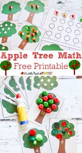 apple tree math activity and free printable