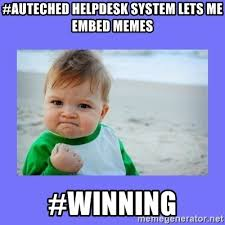 Winning Baby Meme - auteched helpdesk system lets me embed memes winning baby fist