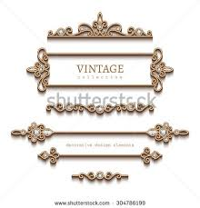 vintage gold jewelry vignettes dividers vector stock vector
