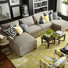 hgtv home design studio at bassett cu 2 cu 2 upholstered double chairse sectional