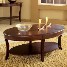 Cherry Wood End Tables Living Room Steve Silver Troy Oval Cherry Wood Coffee Table From Hayneedle