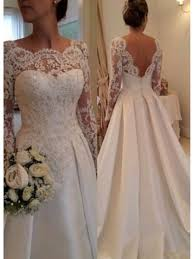 wedding dress lace back and sleeves line sleeves lace v back wedding dresses bridal gowns 99603006