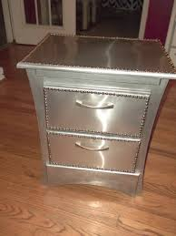bedroom nightstand nightstand made of wood with silver metal