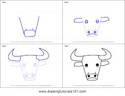 printable bull mask how to draw a bull face for kids printable step by step drawing