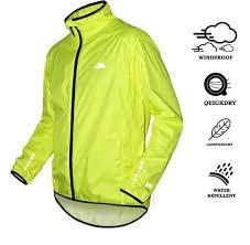 waterproof bike jacket trespass grafton waterproof cycling jacket yellow 29 99