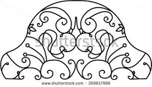 frame bed ornamental ornament ornaments stock vector 309617966
