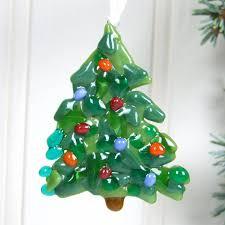 handmade glass christmas tree decoration by jessica irena smith