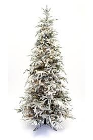 shining slim flocked christmas trees artificial majestic 9 snow