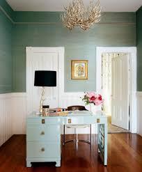 White Gloss Corner Desk Modern Style Black Fabric Shade Wooden Tripod Floor Lamp