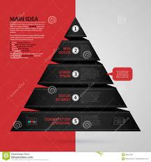 modern web template with pyramid chart made of black paper stripe