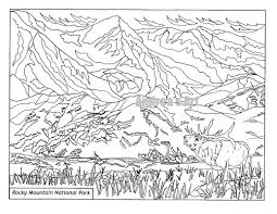 rocky mountain coloring pages contegri com