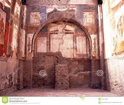 Villa Decoration by Roman Villa Herculaneum Italy Royalty Free Stock Photos Image