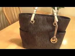 light brown mk purse michael kors logo print signature tote youtube
