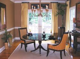 curtain ideas for dining room blue vertical curtain plants in pot