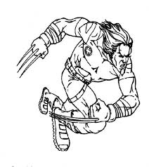wolverine running jumping action men coloring pages