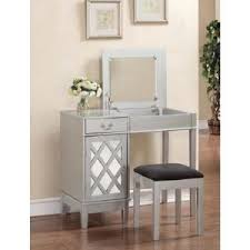 Silver Vanity Chair Linon Home Decor Harper 2 Piece Silver Vanity Set 580432sil01u