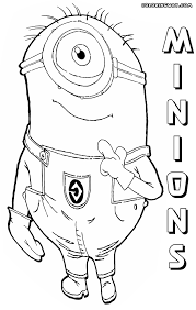 minions coloring pages coloring pages download print