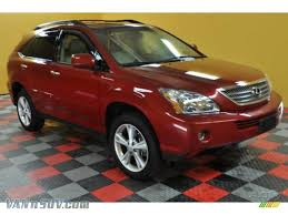lexus rx red 2008 lexus rx 400h awd hybrid in matador red mica 048710
