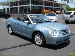 2009 chrysler sebring touring convertible in clearwater blue pearl