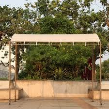 Pergola Gazebo With Adjustable Canopy by Ikayaa 9 84 8 2 8 2ft Metal Patio Garden Wall Gazebo Canopy