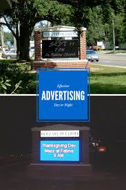 outdoor church signs why choose a digital lighted led