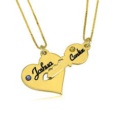 heart necklace gold plated images Heart and key necklace jpeg