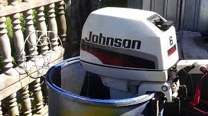 1998 johnson 6 hp outboard motor 2 stroke dwusuw youtube