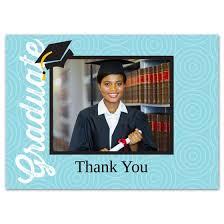 grad date 5x7 graduation thank you card