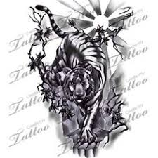 tiger half sleeve chronic ink tattoos ideas
