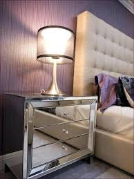 bedroom awesome mirrored table glass front nightstand