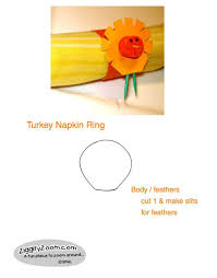 turkey napkin ring thanksgiving turkey napkin rings easy kids craft ziggity zoom