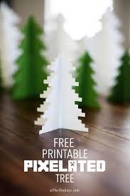 printable pixelated tree free christmas printables free and