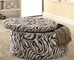 Animal Print Storage Ottoman Zebra Print Storage Ottoman With Tufted Seat By Coaster Furniture