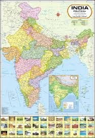 India Physical Map by India Political Map Paper Print Maps Posters In India Buy Art