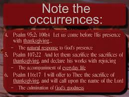 note the occurrences 1 psalm 26 7 that i may publish with the