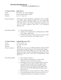 Testing Resume Sample by Manoj Resume