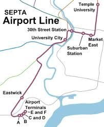 philadelphia international airport map airport line septa