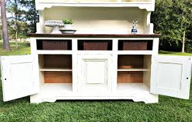 curb alert white painted christmas hutch