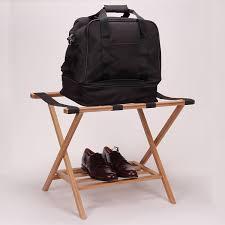 Household Essentials List 48 Household Essentials Bamboo Luggage Rack With Tray Amazon Co
