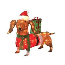 lighted dog christmas lawn ornament dachshund christmas decorations outdoor dogs yard decorations
