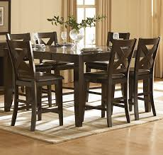 Pub Dining Room Set by Homelegance Crown Point 7 Piece Counter Height Dining Room Set
