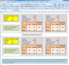 Workout Excel Spreadsheet Excel Spreadsheet To Calculate Bmr Maintenance U0026 Macro U0027s