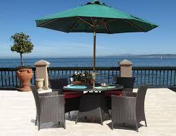 Round Wicker Patio Dining Set - amazon com hudson outdoor resin wicker 5 pc dining set sunbrella