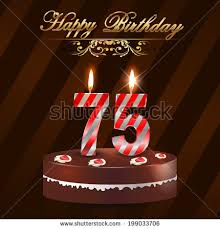 75th birthday stock images royalty free images u0026 vectors