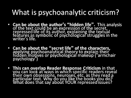 Armchair Psychology Definition Psychoanalytic Criticism Why All Characters Readers Authors Have